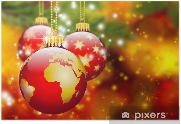 Christbaumschmuck Erde Kugel Weltkugel Abstrakt Weihnachten