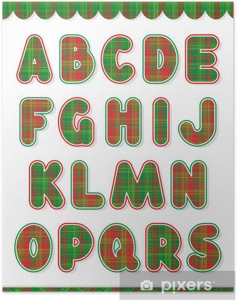 Christmas Alphabet.Christmas Alphabet Set Part 1 Letters A S Poster