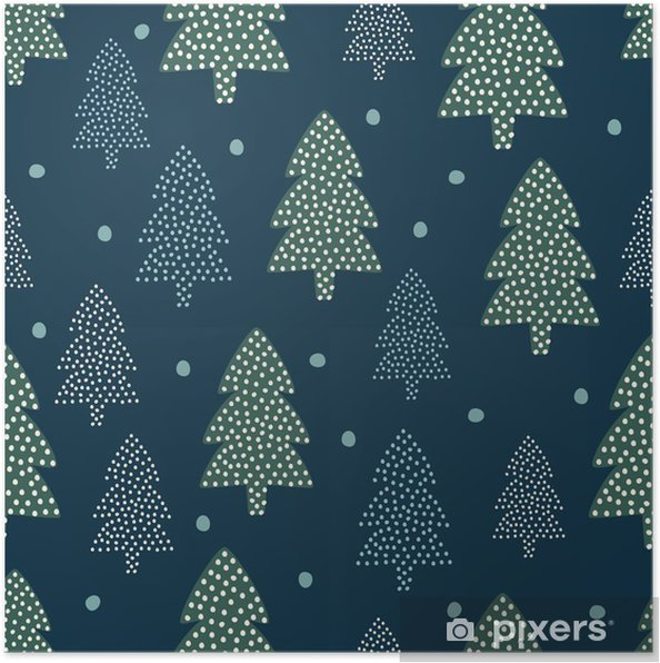 a3a186c8d1d Christmas pattern - Xmas trees and snow. Happy New Year nature seamless  background. Forest design for winter holidays. Vector winter holidays print  for ...