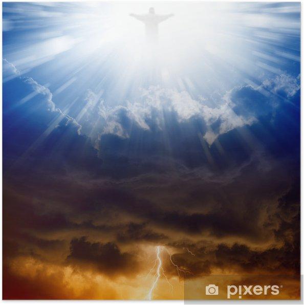 Poster Christus, de hemel en de hel - Religie en Cultuur