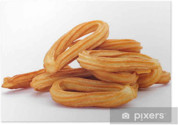 churros typical of Spain Poster - Sweets and Desserts