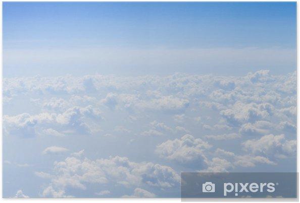 Poster Ciel bleu avec des nuages de fond, avec copie espace - Thèmes