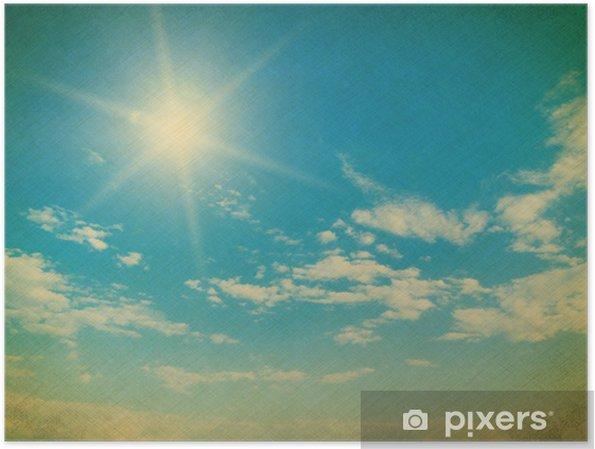 Poster Ciel bleu avec des nuages gros plan - Arrière plans