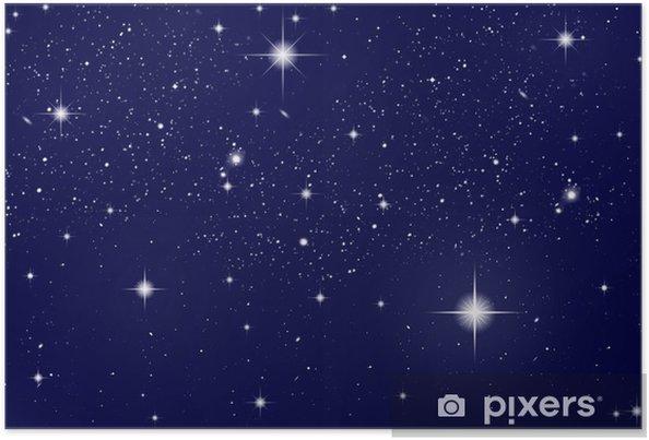 Poster Ciel De Nuit Avec Des étoiles