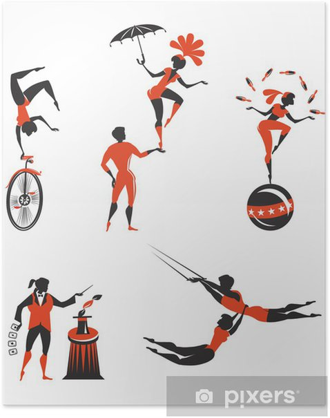 Circus artists Poster - Entertainment