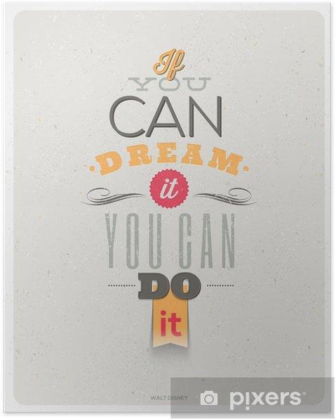 Poster Citations De Walt Disney Conception De Vecteur Typographique
