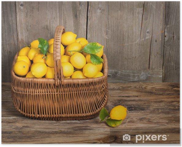 Poster Citron - Fruits