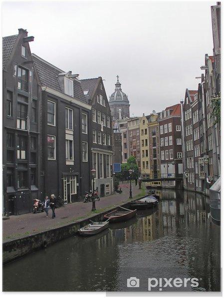 Poster Cityview à Amsterdam en Hollande - Paysages urbains
