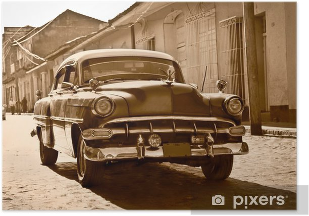 Classic Chevrolet in Trinidad, Cuba Poster - Themes