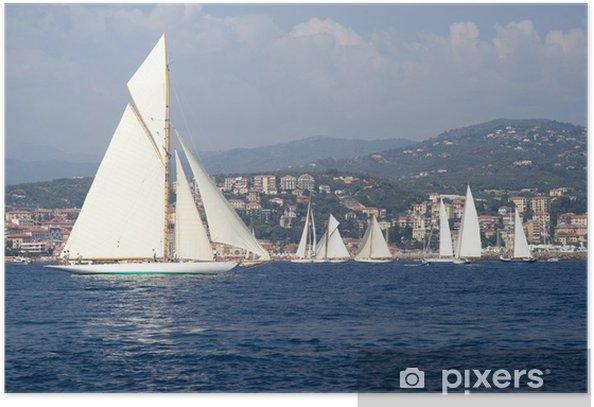 Classic yacht regatta Poster - Water Sports