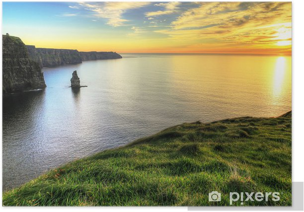 Cliffs of Moher at sunset - Ireland Poster - Themes