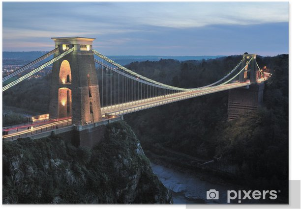 Clifton suspension bridge Poster - Infrastructure