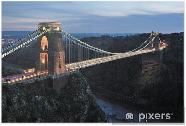 Poster Clifton Suspension Bridge - Infrastructures