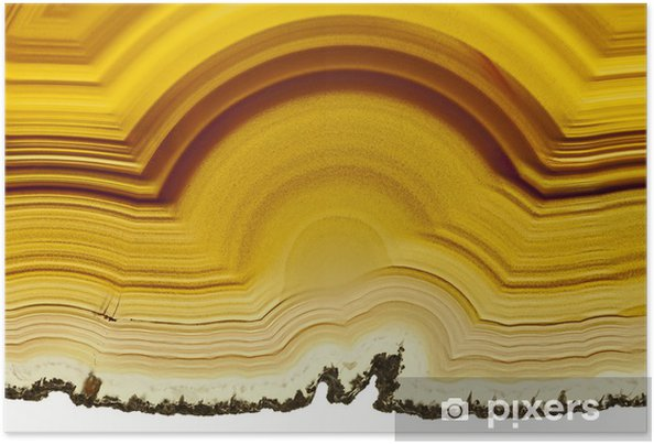 Poster Close up d'une tranche Agate Gemstone - Mode