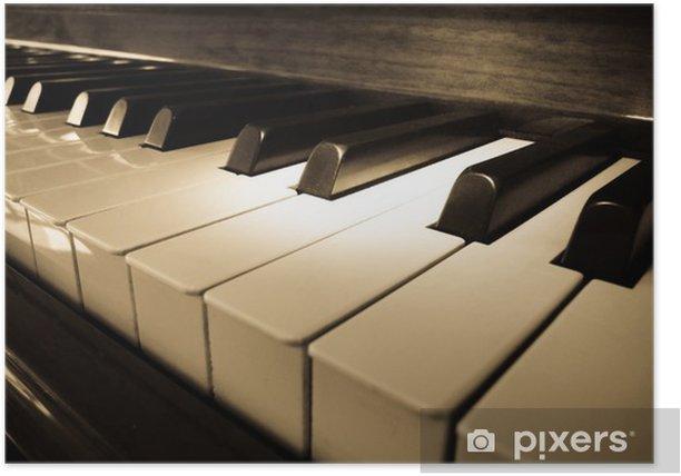 Close up shot of piano keyboard Poster - Jazz