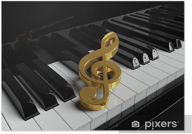 Closeup Piano keys Poster - Piano