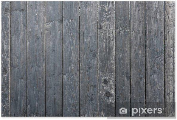 Poster Clôture en bois - Thèmes
