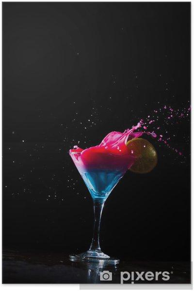 Poster Cocktail frais éclaboussures laiteux - Alcool