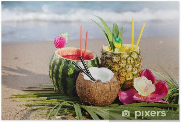 Poster Cocktails tropicaux - Alcool