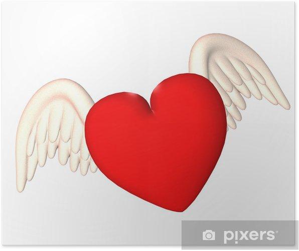 Art Pixel Art Facile Coeur Avec Des Ailes