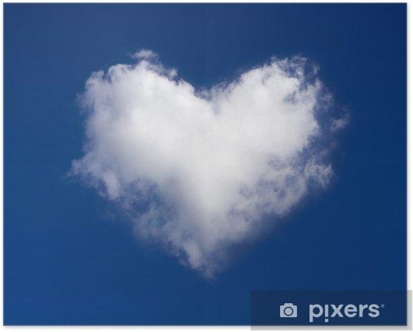 Poster Coeur nuage - Bonheur
