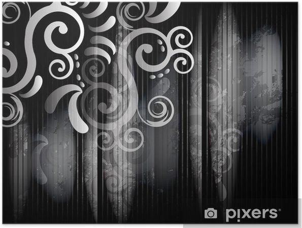 Poster Coin en noir et blanc - Styles