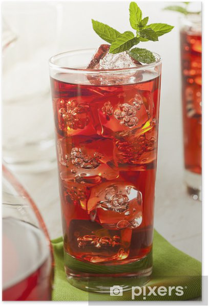 Cold Refreshing Berry Hibiscus Ice Tea Poster Pixers We Live To