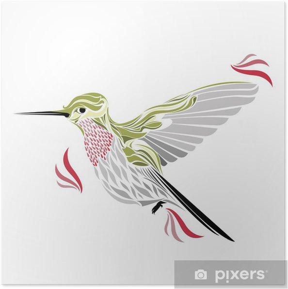Poster Colibri - Oiseaux