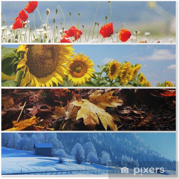 Poster Collage de la saison - Agriculture