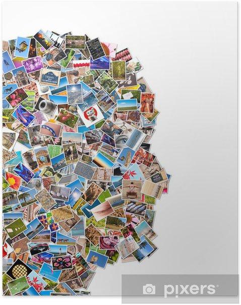 Poster Collage photos visage de profil - iStaging