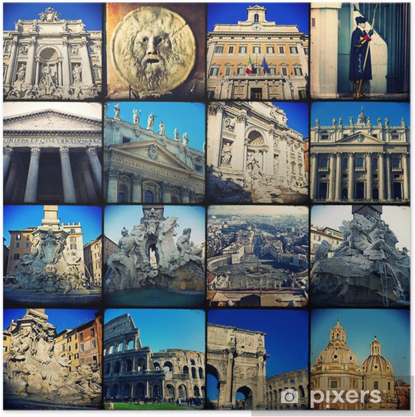Poster Collage - Roma - Villes européennes