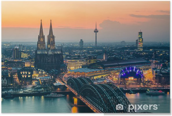 Poster Cologne au crépuscule - Thèmes