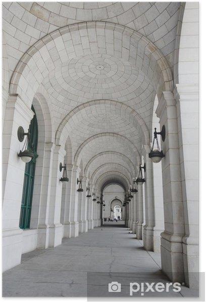 Poster Colonnes de Union Station à Washington DC États-Unis - Thèmes