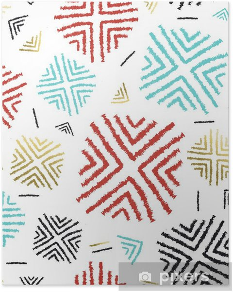 Póster Color de fondo con el arte tribal abstracto - Recursos gráficos