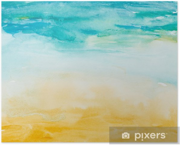 color strokes watercolor painting art Poster - Themes