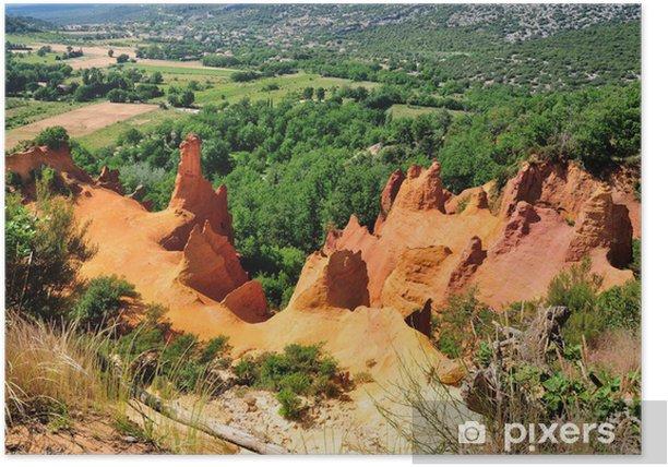 Colorado de Rustrel Poster - Nature and Wilderness