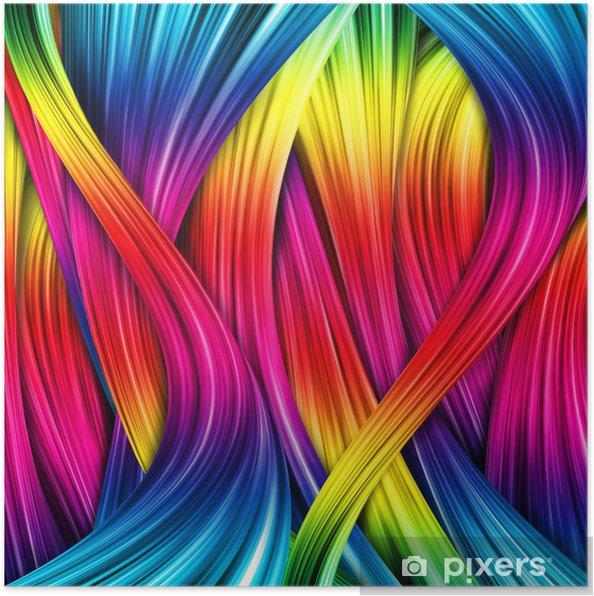 Poster Colorful fond abstrait - Arrière plans