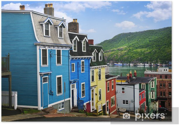 Colorful houses in St. John's Poster - Infrastructure