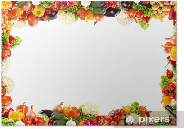 Poster Colorful légumes cadre - Repas
