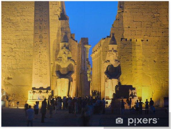 Poster Colosse à l'entrée du temple de Louxor, Thèbes. Egypte série - Afrique