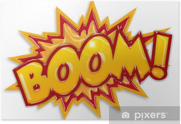 comic boom Poster - Themes
