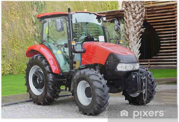 Compact tractor. Poster - Agriculture