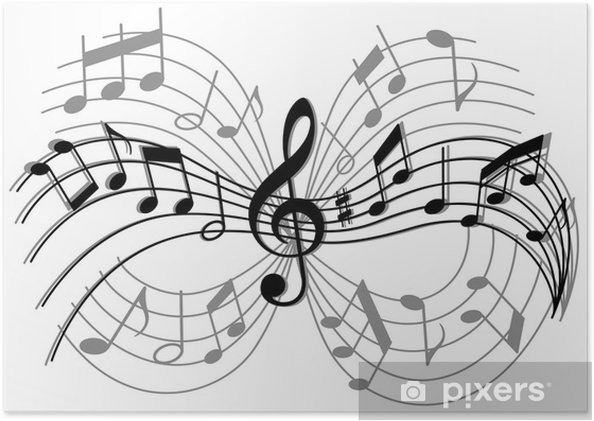 Póster Composición musical abstracto - Entretenimiento