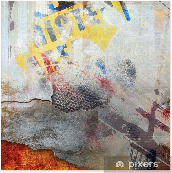 Poster Composition abstraite, la couleur de fond - Arrière plans