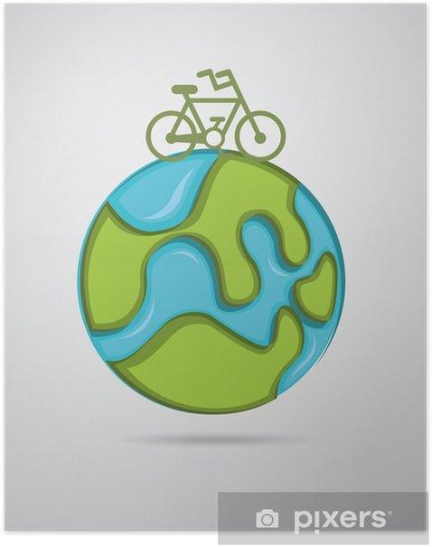 Poster Conception de vélo - Sur la route