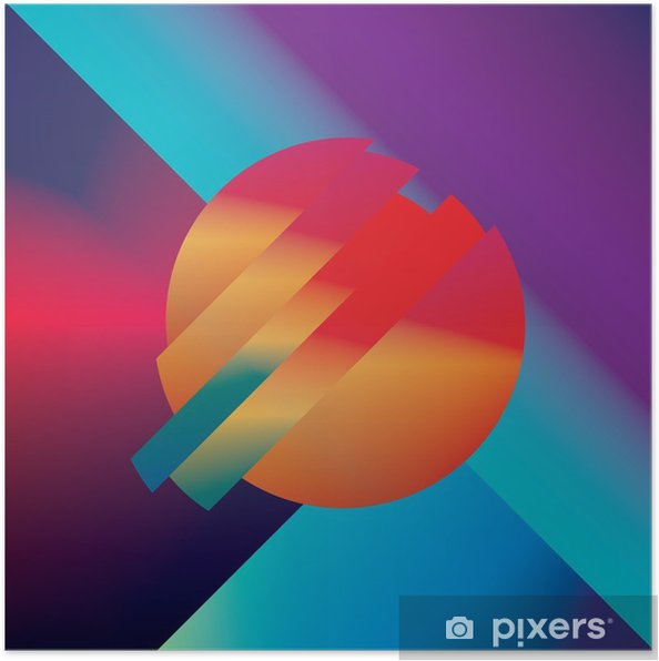 Poster Conception Matériau abstrait vecteur de fond avec des formes isométriques géométriques. Vivid, lumineux, symbole coloré brillant pour le papier peint. - Ressources graphiques