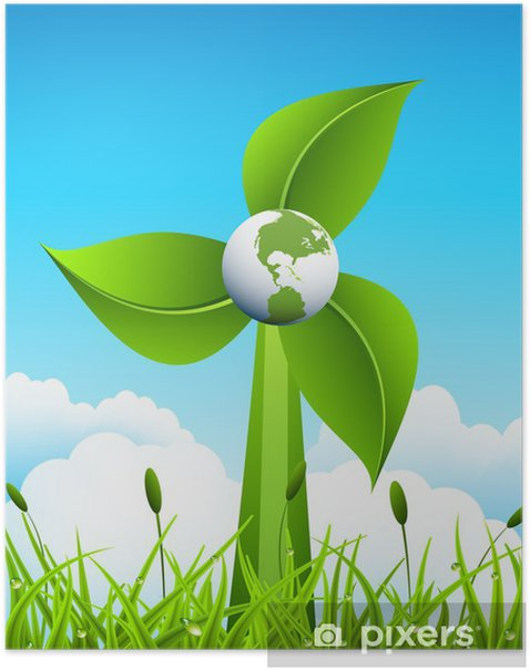 Póster Concepto eco - Naturaleza y zonas salvajes