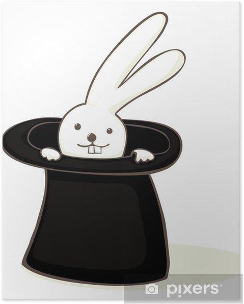 Póster Conejito en un sombrero • Pixers® - Vivimos para cambiar af96a2c9640