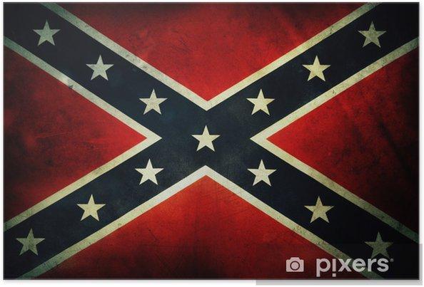 Poster Confederate flag - Teman