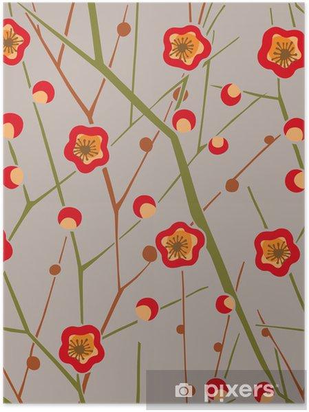 Poster Configuration graphique - Fleurs